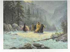 """G. Harvey """"Boot Top Deep"""" Lithograph Art Print"""