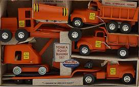 Tonka Toys B210 Road Builders Set Like New with B