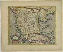 Gerardus Mercator Map of Macedonia ca. 1595