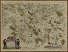 Blaeu Map of Charolois ca 1635