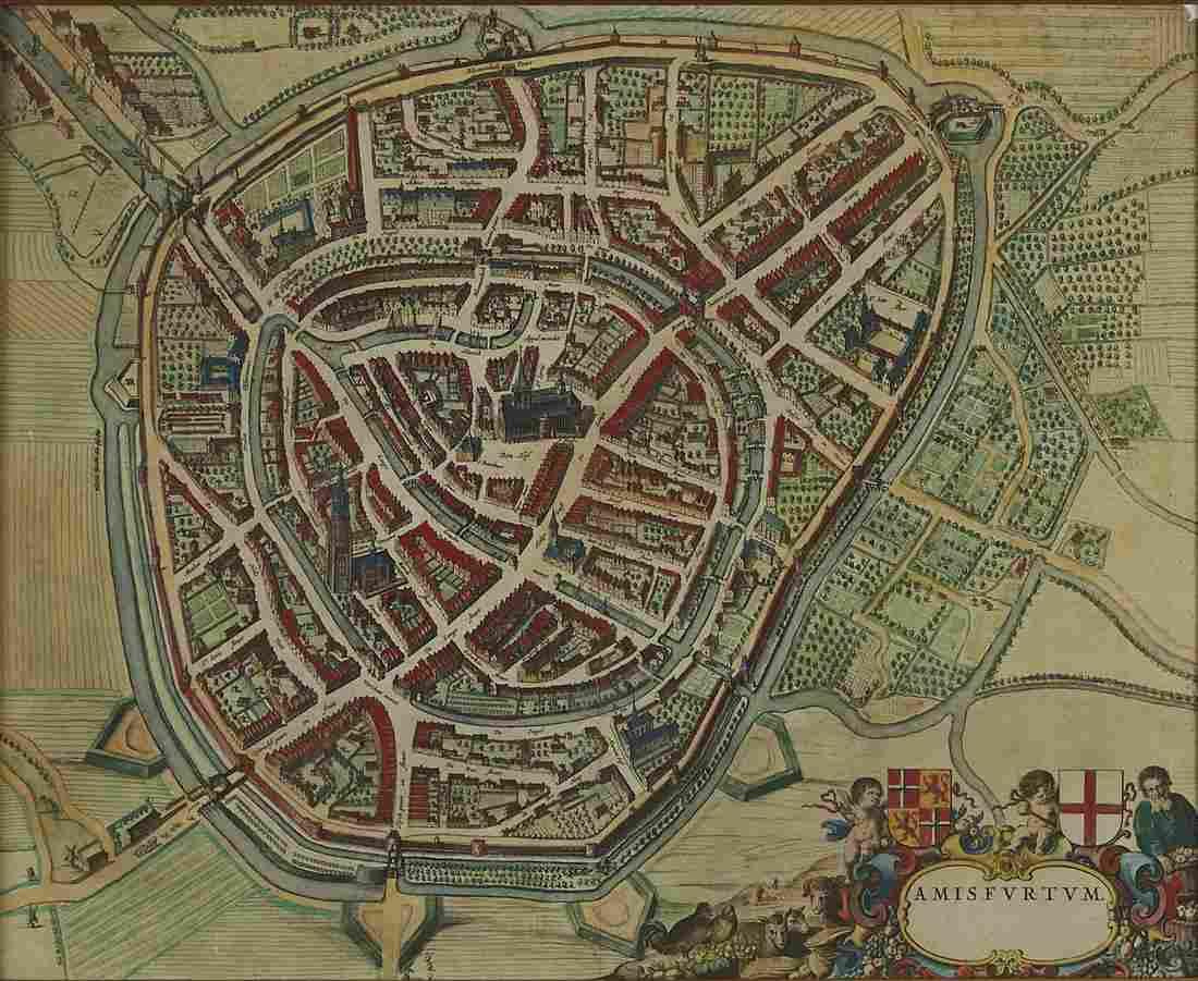 Joan Blaeu Map of Amersfoort ca. 1650
