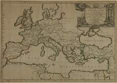 Sanson Hand Colored Map of Europe  Geographia Syn