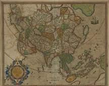 Gerardus Mercator Map of Asia 1613