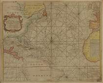 Map of West Indies from Mercator 1773