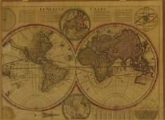 Cornelius Danckerts Map of the World 1710