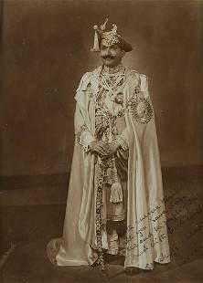 Autographed Photograph of Shahu of Kolhapur