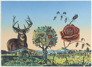 Eddie Dominguez Call of the Wild Color Lithogra