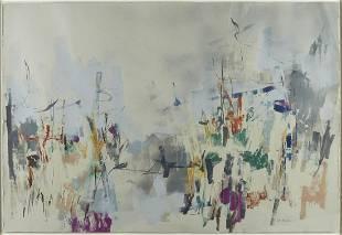 Lee Milmon Abstract Monotype