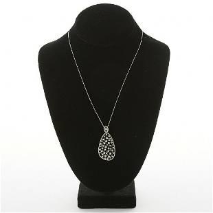 Diamond and White Gold Pendant