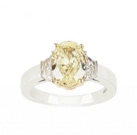 Cartier Natural Fancy Yellow Diamond Ring