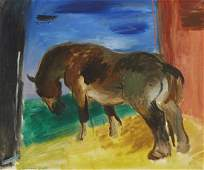 Cameron Booth Chestnut Horse Oil on Canvas