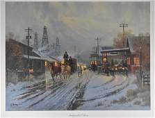 G Harvey Independent Oilmen Lithograph Art Print