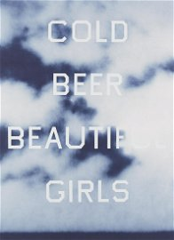 """Ed Ruscha """"Cold Beer Beautiful Girls"""" Color Lithograph"""