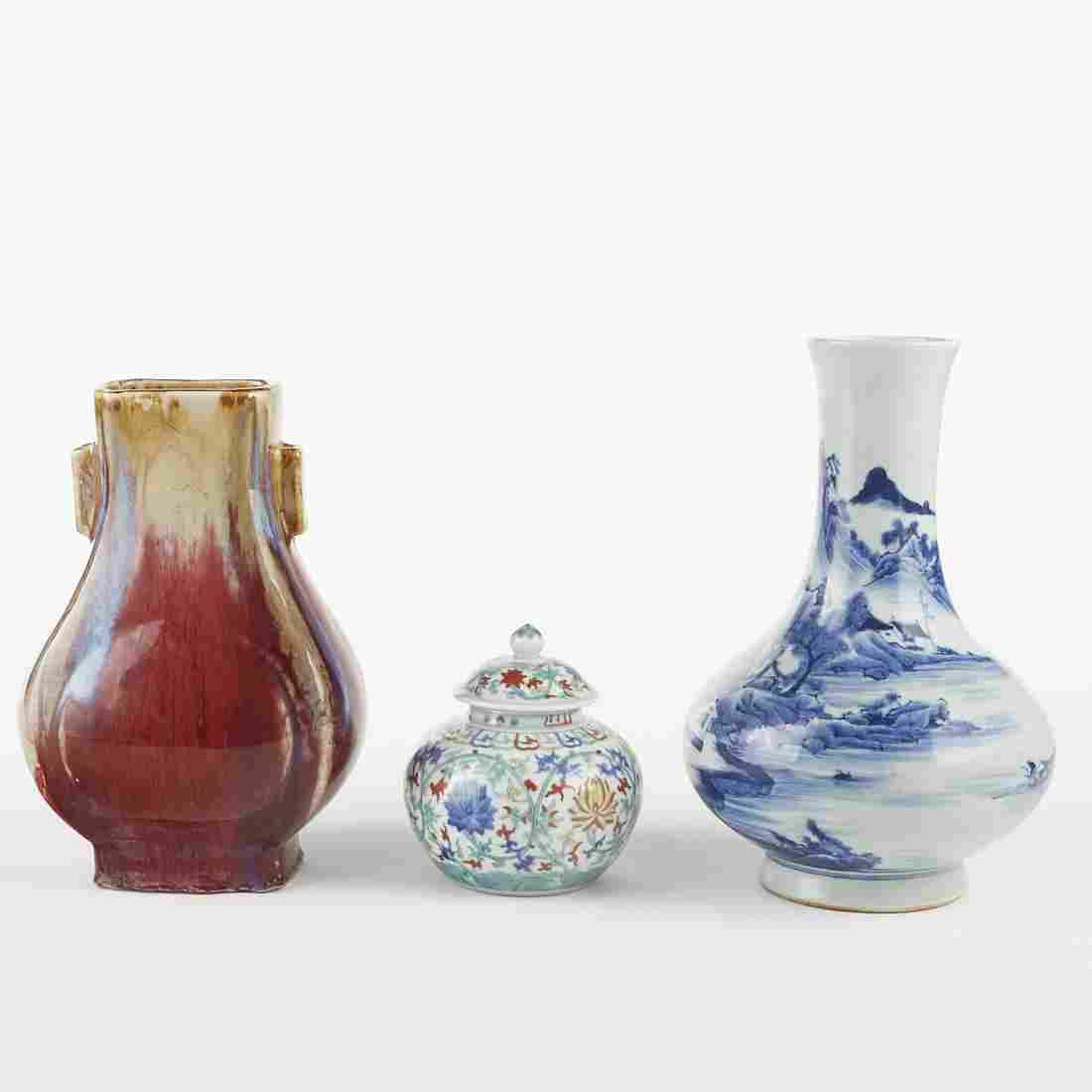 Grp: 3 20th c. Chinese Republic Porcelain