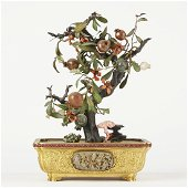 Chinese Jade and Hard Stone Tree Ex Walker Col