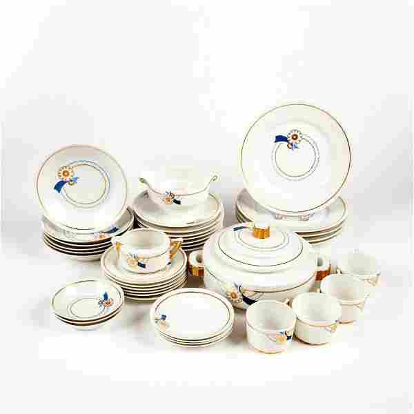 Limoges French Art Deco Porcelain Set