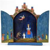 Kristof Slanina MN WPA Christmas Nativity Painted Wood