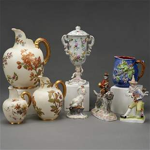 Group of 8 Porcelain Objects