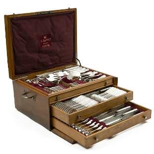 97 pc Range 800 Silver Vermeil Flatware Set