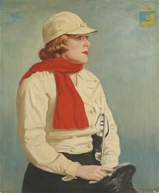 J. Campbell Phillips Portrait of a Female Ice Skater