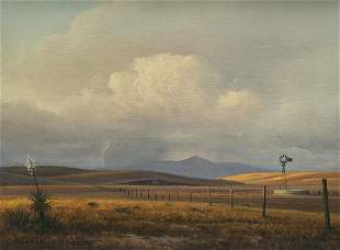 "Michael Stack ""A Summer Storm"" Oil on Canvas"