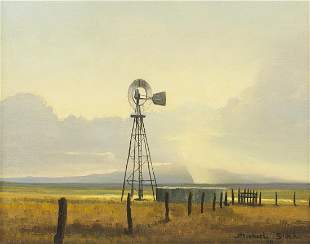 "Michael Stack ""Sonoita Windmill"" Oil on Canvas"