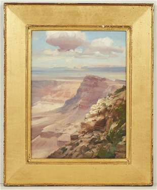 Peter A. Nisbet Grand Canyon Oil on Board