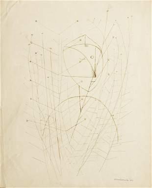 Xavier Gonzalez Abstract Figure Ink Drawing