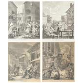 William Hogarth Times of the Day Engravings