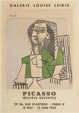 Picasso Galerie Louise Leiris Exhibition Poster