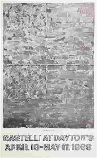 "Jasper Johns ""Castelli at Dayton's"" 1969 Exhibition"