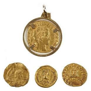 Grp: 4 Gold Roman Coins