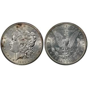 1884 S Morgan Silver Dollar AU55 PCGS
