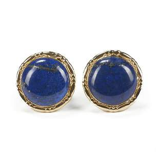 14K Gold & Lapis Lazuli Earrings