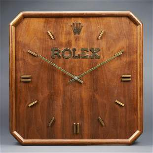 Vintage Rolex Wooden Wall Clock