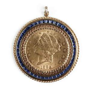 18K Gold 1896-S $20 Liberty Head Coin