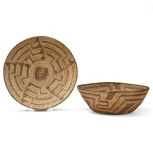 Grp: 2 Large Pima Native American Baskets