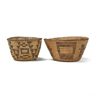 Grp: 2 Pima Native American Woven Baskets
