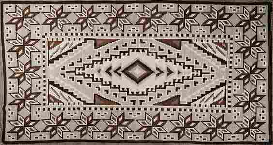 Navajo Blanket Two Grey Hills 7' x 12'