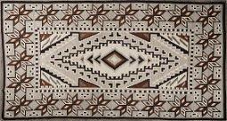 Navajo Blanket Two Grey Hills 7' x 12'