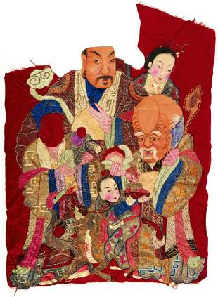 Chinese Silk Embroidery Immortals