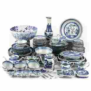 Large Set of 19th C. Chinese Canton Porcelain