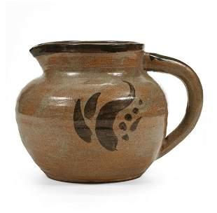 St. Ives Studio Pottery Ceramic Pitcher - Marked