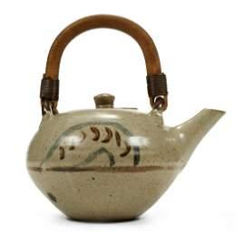 St. Ives Studio Pottery Ceramic Teapot - Marked
