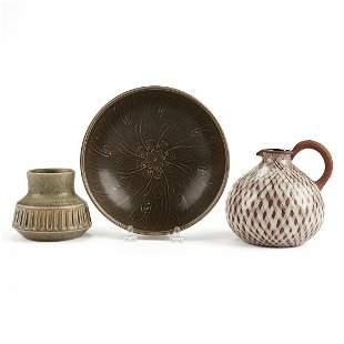 Grp: 3 Danish Designers MCM Art Pottery