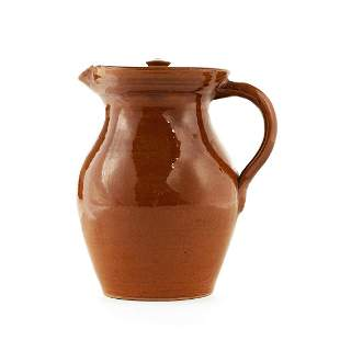 Evan Javan Brown North Carolina Art Pottery Pitcher
