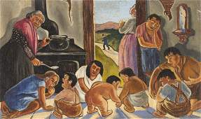 20th c. Mexican School Mural Painting
