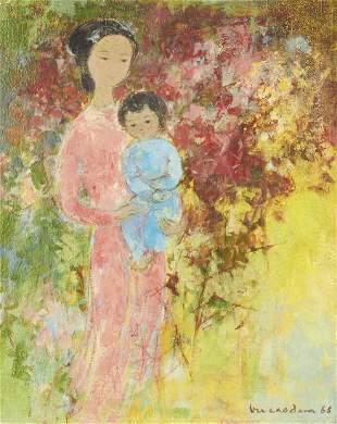 "Vu Cao Dam ""Maternity"" Oil on Canvas"