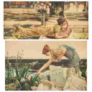 Grp: 2 Alma Tadema Victorian English Color Lithographs