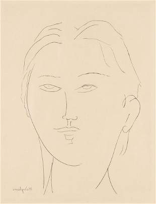 Modigliani Female Head Etching